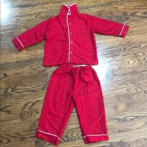 Gender neutral 3T Pottery Barn Flannel Pajamas
